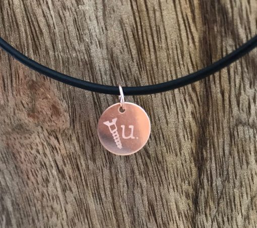 Screw U© handstamped necklace