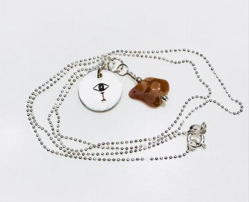 Melissa C Mark Jewelry Lake Superior Agate I AMuleT