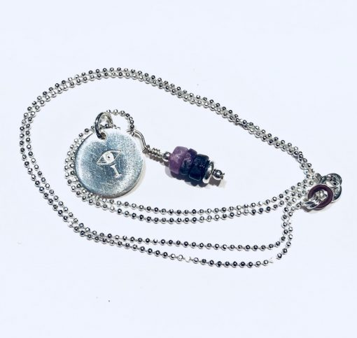 Melissa C Mark Jewelry Sugilite I AMuleT Necklace