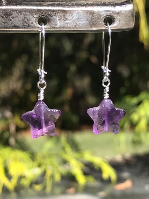 Amethyst Star Earrings - Melissa C Mark Jewelry