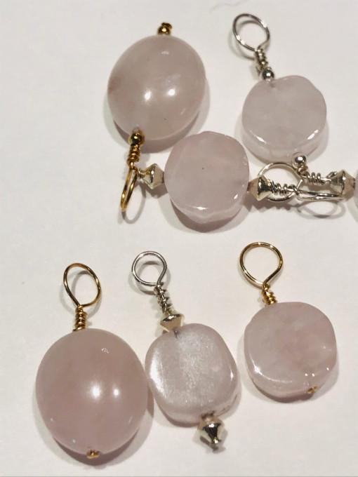 Rose quartz I AMulet pendants
